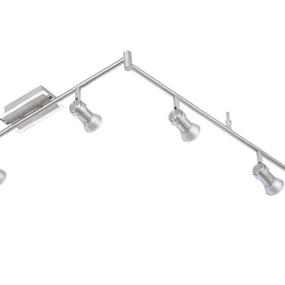 LED- Deckenstrahler aus Stahl - IP44 - inklusive 6x 3W GU10 LED- Leuchtmittel