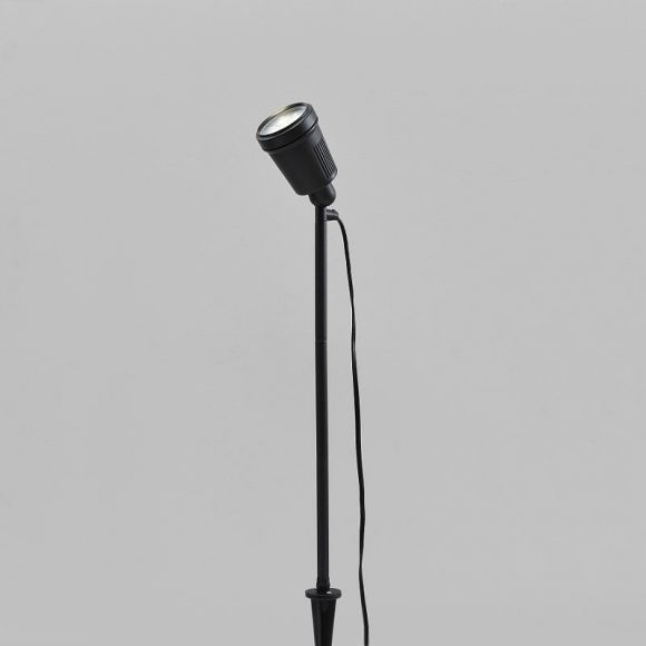 LED-Erdspießleuchte, Strahler, verstellbar, Farbscheiben, warmweiß