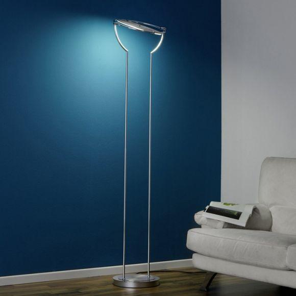 led fluter stufenlos dimmbar 78w led in chrom chrom wohnlicht. Black Bedroom Furniture Sets. Home Design Ideas