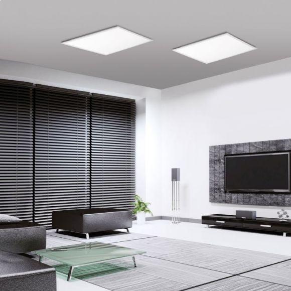 led panel deckenleuchte mit fernbedienung farbe reines wei wohnlicht. Black Bedroom Furniture Sets. Home Design Ideas