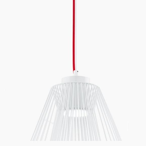LED-Pendelleuchte Ø30cm in weiß, Kabel 2 Farben