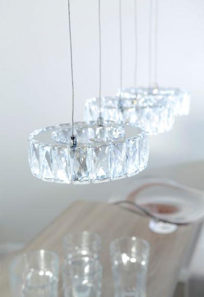 LED-Pendelleuchte mit Kristallglas, 1x 7,2W LED