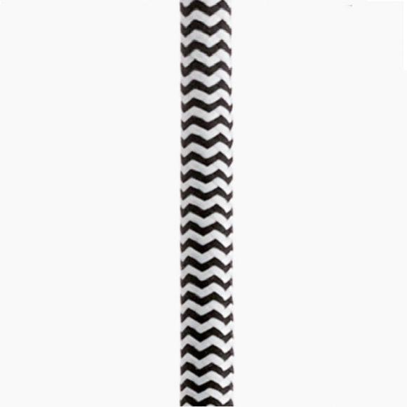 LED-Pendelleuchte Naturholz weiß, 47 cm, Kabel in 2 Farben