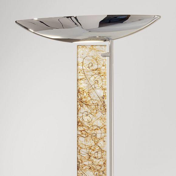 LED-Standleuchte Delphi chrom , Decor: Medici Silver von Kolarz®