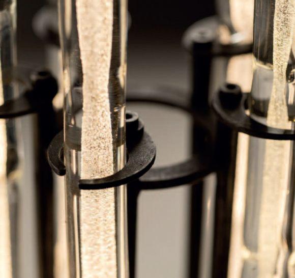 LED-Stehleuchte mit dekorativen Glasstäben, 5-flammig