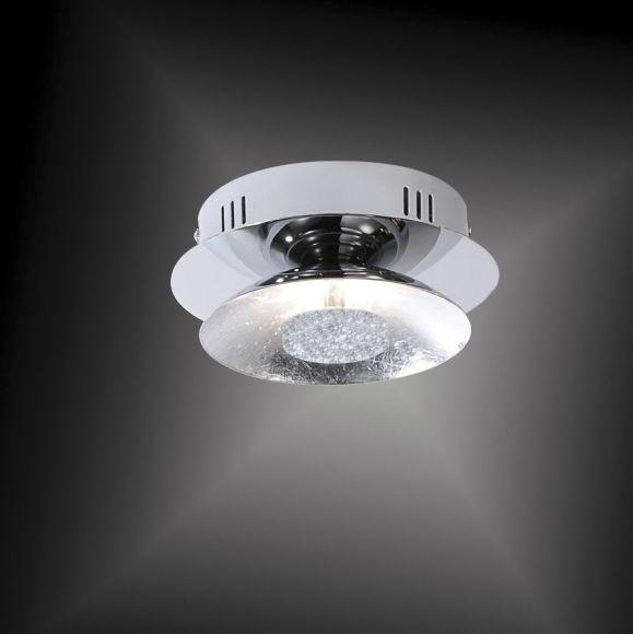 LED-Wandleuchte 17 cm in Blattsilber- oder Blattgoldoptik