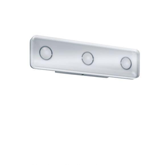LED-Wandleuchte, eckig aus rostfreiem Material