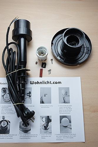 LHG Kugelleuchten 4er Set 15, 20, 25 & 30cm für Außen mit Erdspieß & Stromkabel, inkl. E27 LED, Garten Kugellampen aus weißem Kunststoff, IP44 Outdoor geeignet, E27 Fassung
