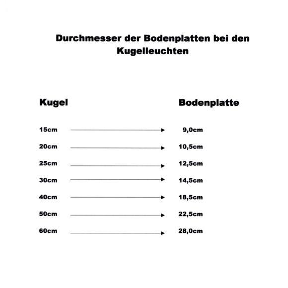 LHG Kugelleuchten, 3er Set, 3 x D 50 cm, mit Kabel, Gartenleuchten