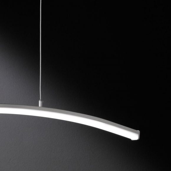 Moderne LED Pendelleuchte in Nickel matt - LED 12W