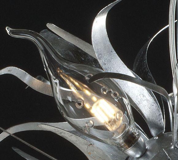 Moderne Pendelleuchte - Made in Italy - Blattsilber - Für 5 x E14  40 Watt