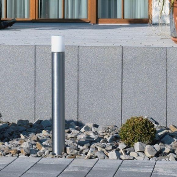 Moderne Wegeleuchte Edelstahl mit Acrylglas, Höhe 90cm, IP44