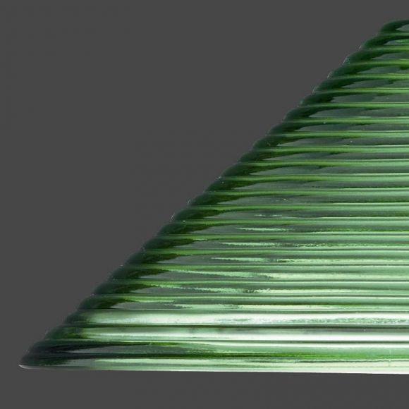 LHG Pendelleuchte 30 cm - Riefenglas in Grün