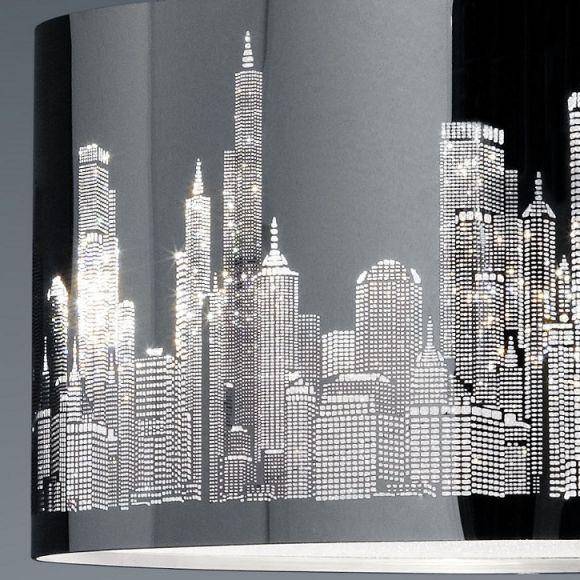 LHG Pendelleuchte aus Metall mit dekorativem Edelstahl-Laser-Cut inklusive 2x 4W E14 LED Kerze