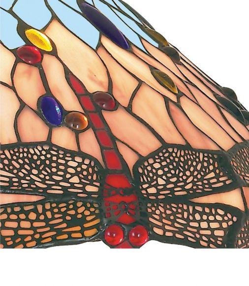 Pendelleuchte Dragonfly im Tiffanystil