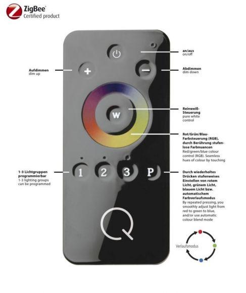 Pendelleuchte Q®-Skyline, ZigBee kompatibel, 2 Größen