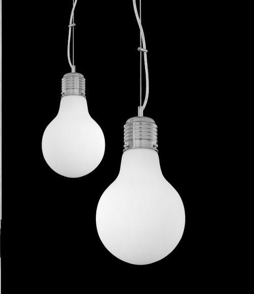 Pendelleuchte weißes Glas und Nickel-matt in Big und Small  erhältlich