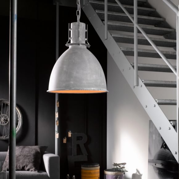 Pendelleuchte, Industrial-Look, Fabrikleuchte, D=42cm, LED geeignet