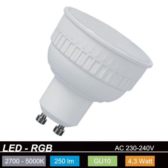 RGB Lola Bulb 4,3Watt GU10 LED Farb - CCT Wechsel
