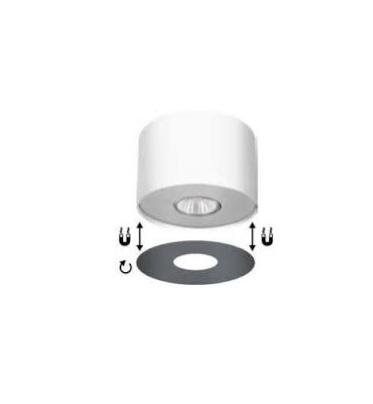 Rundes Downlight Point in Weiß/Silber - 3 Größen