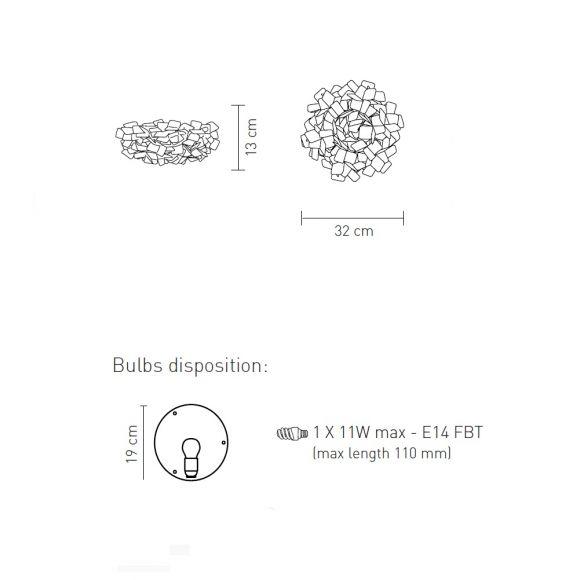 Slamp Designerleuchte Clizia Ceiling-Wall Mini
