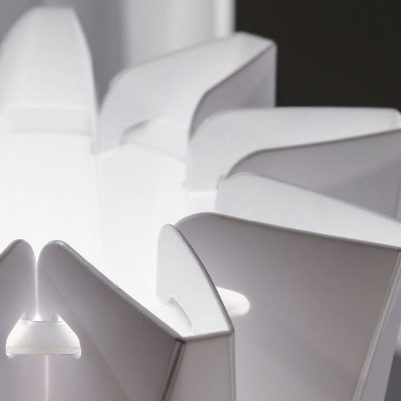 Slamp Stehleuchte Bach in weiß, 3 Größen