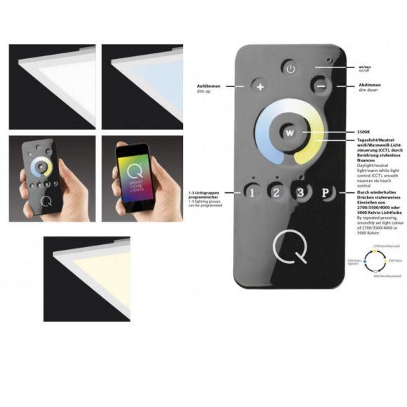 Smart Home LED-Panel 45x45cm, 36W, CCT dimmbar per Fernbedienung