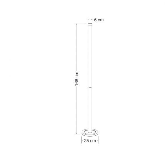 Stehleuchte in Chrom - G5 21 Watt - 168cm