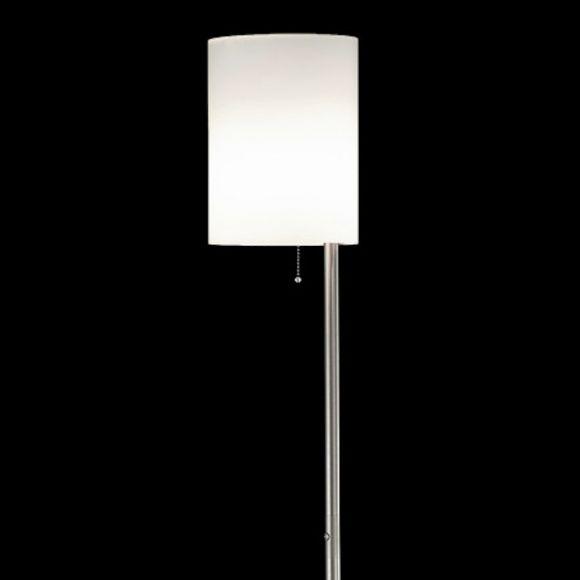 Stehleuchte E27 Schalter H 165cm Glas matt Altmessing Trio-Leuchten