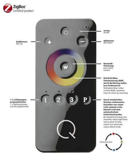 Stehleuchte Q®-GLIDO-RGB, ZigBee kompatibel, 2 Varianten