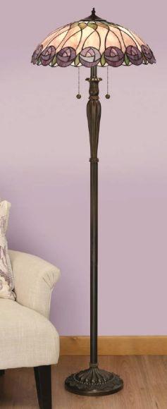 Tiffany Stehleuchte Hutchinson, Höhe 164 cm