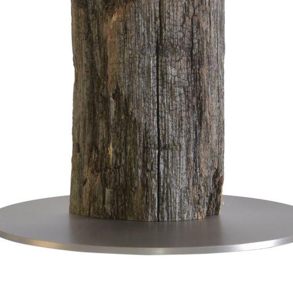Tischleuchte Alter Kavalier von Herzblut, Natur Zaunholz