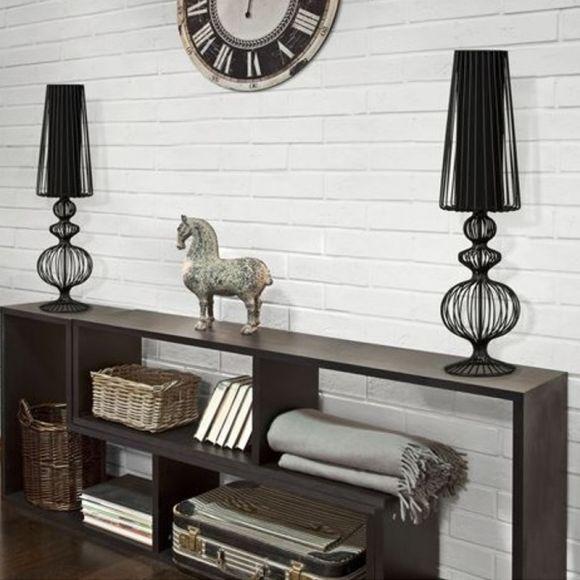 Tischleuchte Aveiro L aus Metall - Schwarz oder Weiß