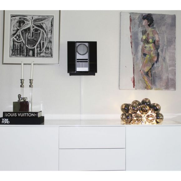 Tischleuchte mit Glaskugeln, buntes Glas, G9, skandinavisch elegant, in 3 verschiedenen Farben