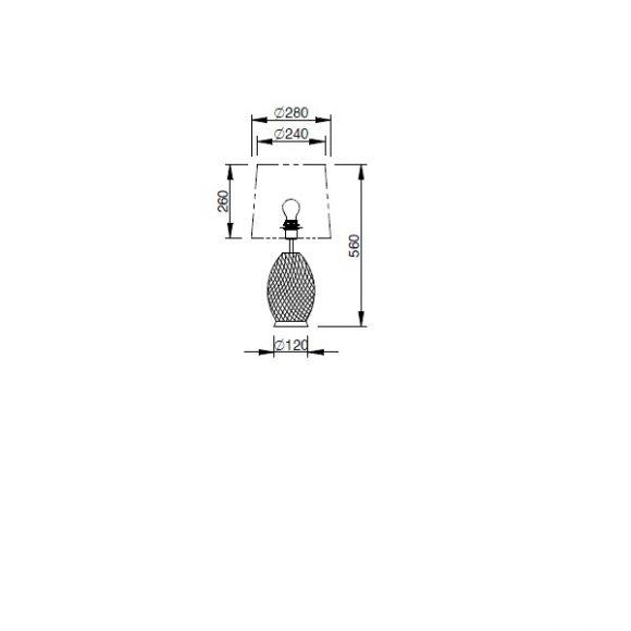 Tischleuchte Pina mit Kristallkörper und Stoffschirm - 2 Varianten