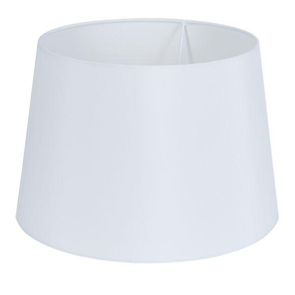 Tischleuchte, Chrom,  Stoffschirm Weiß, Schnurschalter
