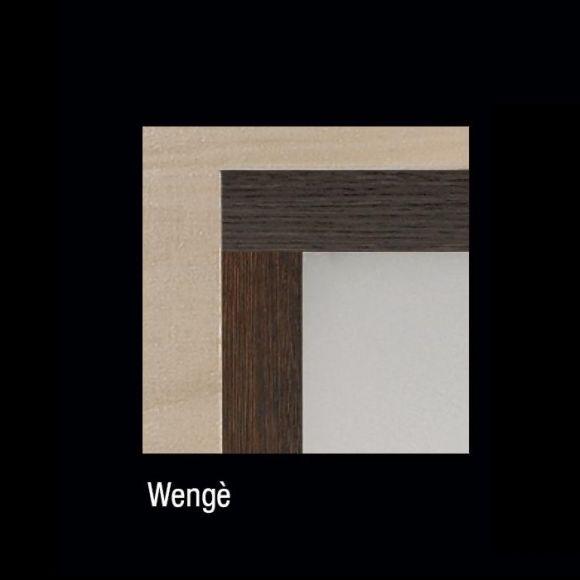 Wandleuchte aus Wengeholz - 52x52cm