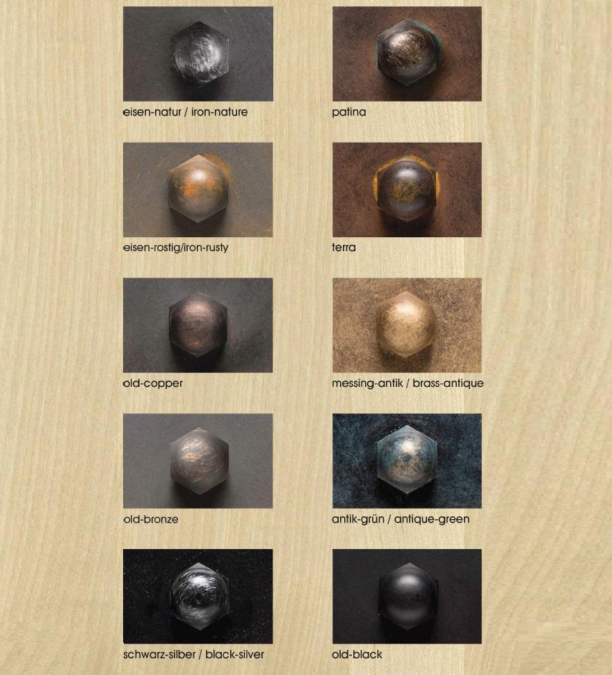 1-flg. Wandleuchte old copper mit Bergkristall, 2 Versionen