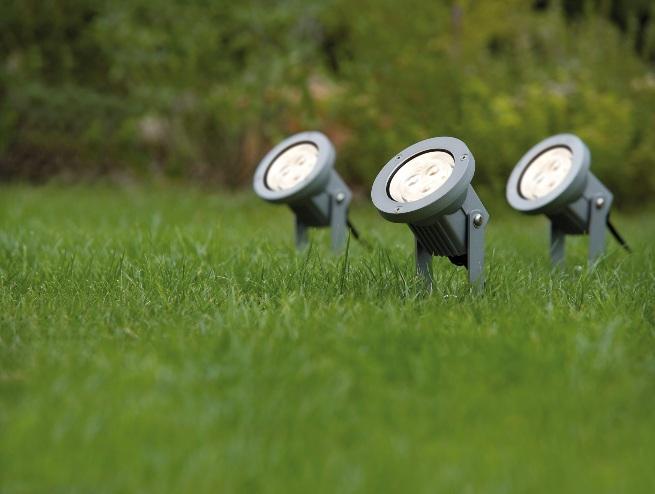 Gartenbeleuchtung mit LED-Außenstrahler