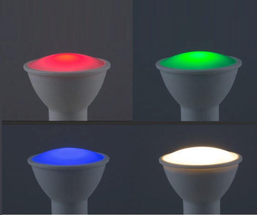4Watt GU10 LED Leuchtmittel  mit Farbwechsel, inkl. Fernbedienung