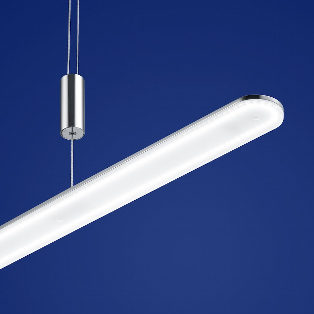 B-Leuchten LED-Pendelleuchte Genk schwarz Chrom, 100 cm