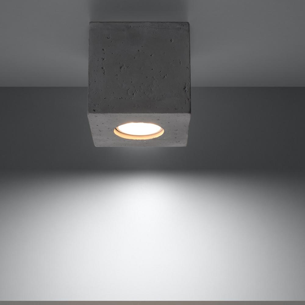 LHG Deckenleuchte Quad Beton mit LED-Leuchtmittel