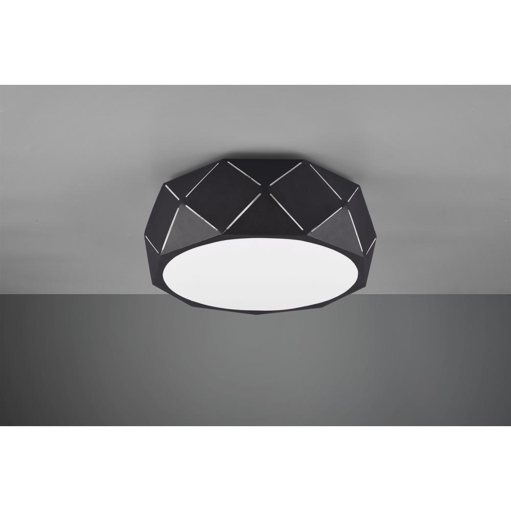 Deckenleuchte, Metall, für LED Leuchtmittel E27, weiß