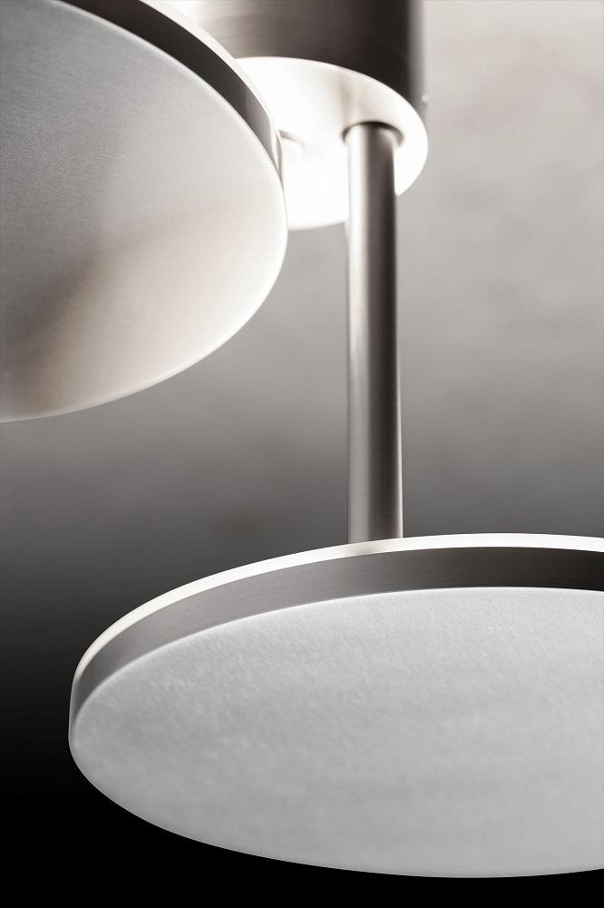 Holtkötter 2-flg. LED-Deckenleuchte - Aluminium-matt