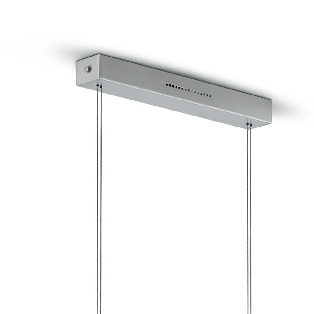 Knapstein LED Pendelleuchte Sensordimmer, höhenverstellbar, Nickel-matt, 140 cm lang, warmweiß