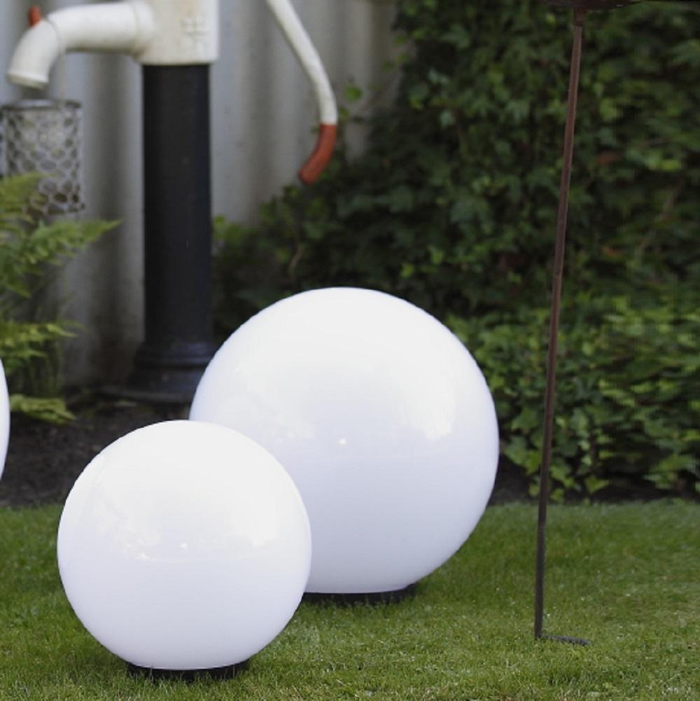 LHG Kugelleuchten, 2er Set, D = 20cm & 30cm, mit Kabel, Gartenbeleuchtung