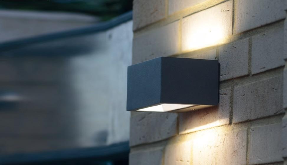 LED Außenwandleuchte,Edelstahl, Up & Down