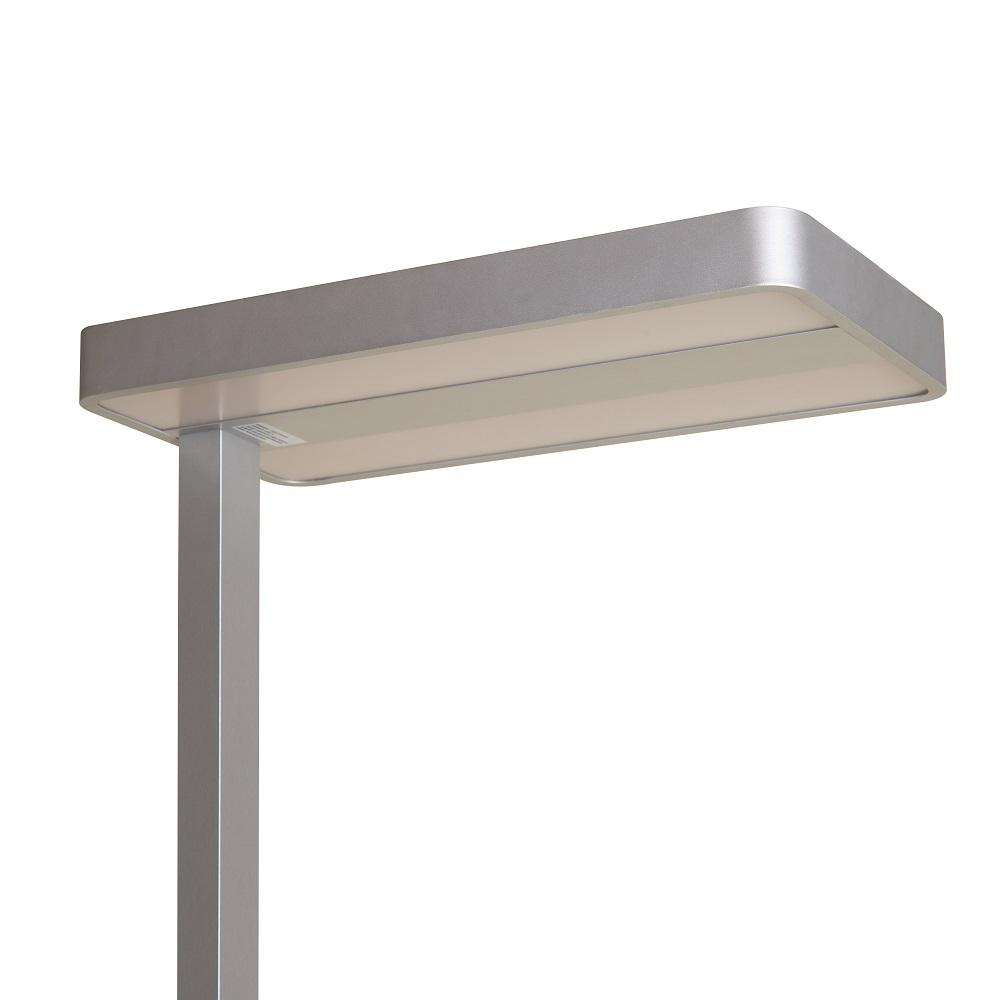 LED Bürostehleuchte, silber, 195cm hoch, LED neutralweiß, dimmbar