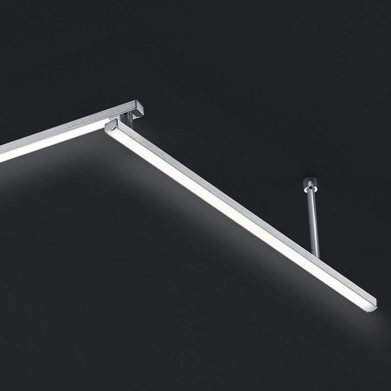 LED Deckenleuchte in Alu-gebürstet - 180 cm - 4-flg