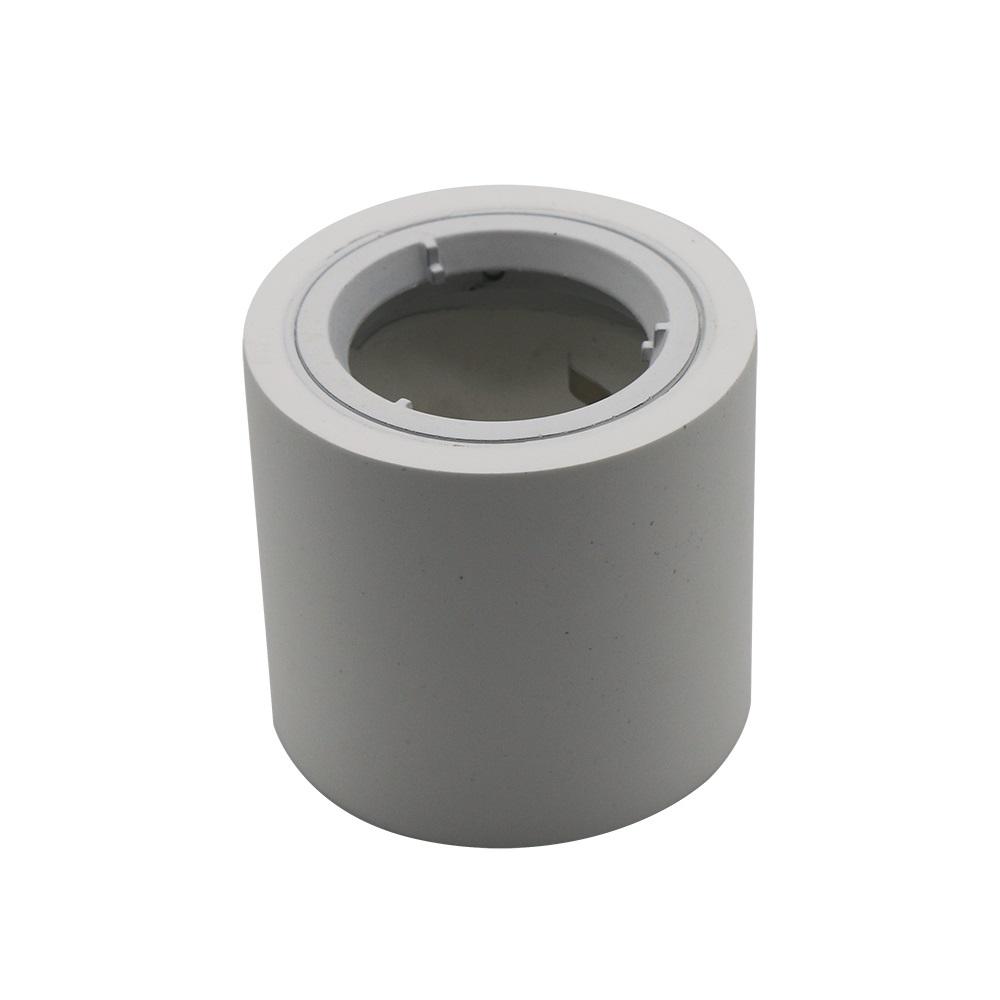 LHG LED Deckenleuchte, Gips, weiß, rund, D 7,5 cm, inkl. LED warmweiß